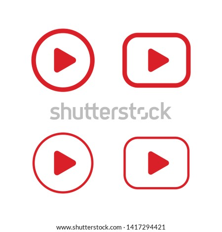 Play button icon. Video media player symbol.