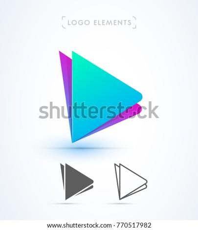 play button logo template