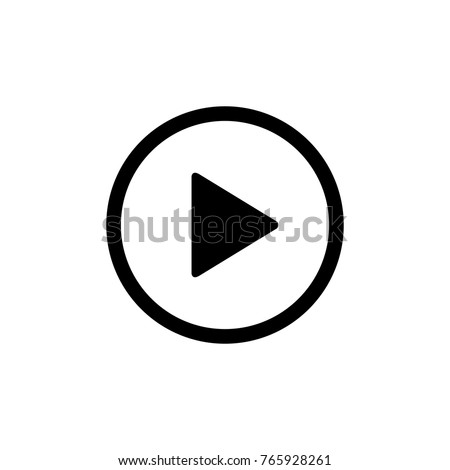 Play button vector icon