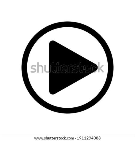 Play button vector icon, Play Button circle logo design.