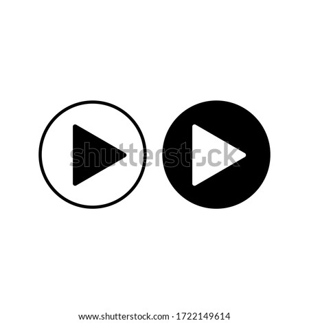 Play button Vector icon. Video play button symbol vector illustration color editable. eps 10