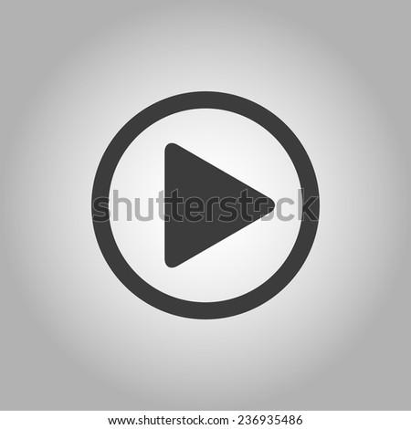 Play button web icon #236935486