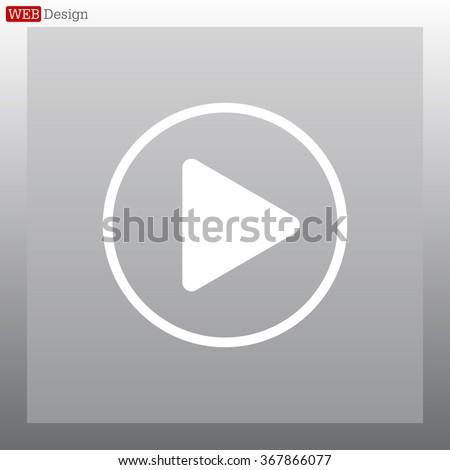 Play button web icon #367866077