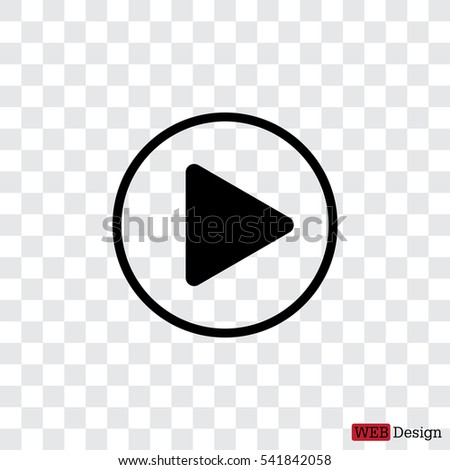 Play button web icon #541842058