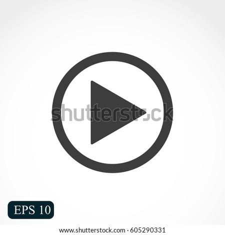 Play button web icon #605290331