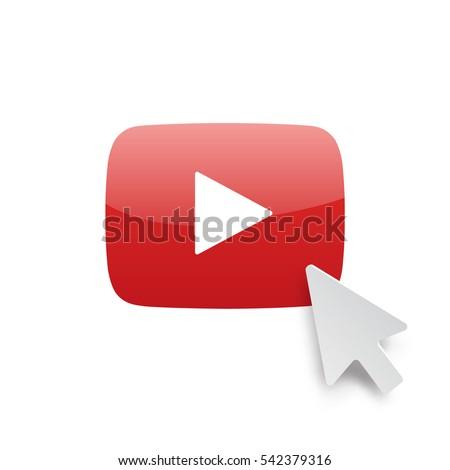 play button with digital arrow