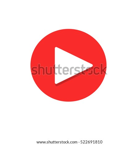 Play Button with Shadow Icon.