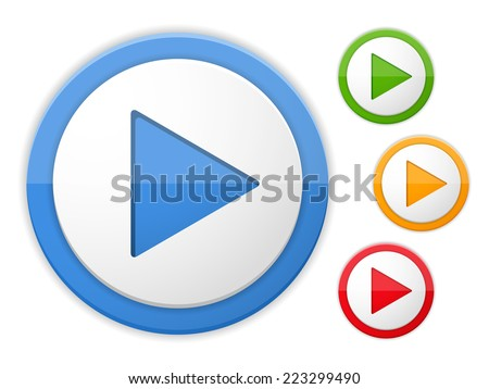 play buttons  four colors