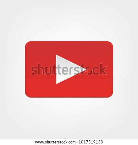 Play icon button. Icon Vector EPS10. youtube button