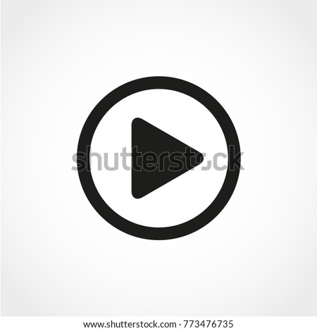 Play Icon Isolated on White Background