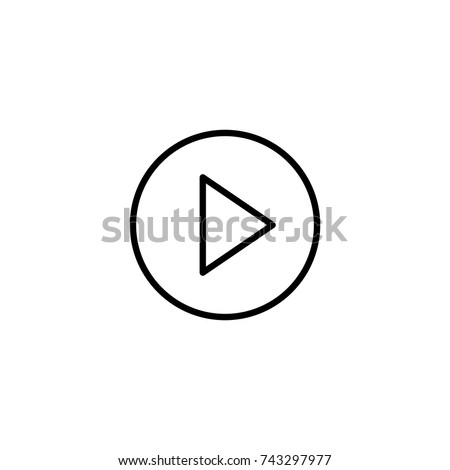 Play icon, Play icon vector, in trendy flat style isolated on white background. Play icon image, Play icon illustration