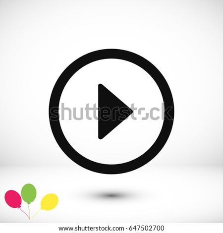 play icon, vector best flat icon, EPS #647502700