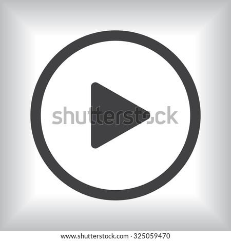 play. icon. vector design #325059470