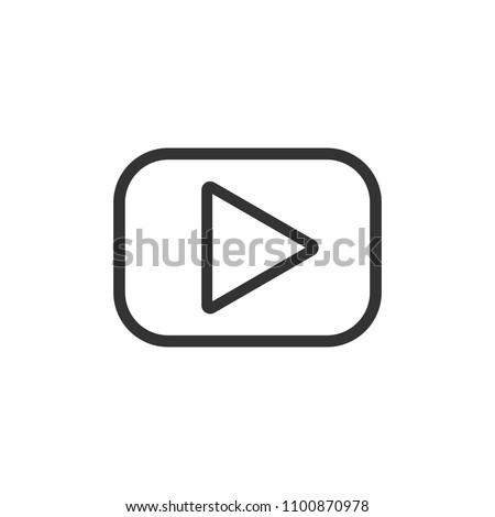 Play icon. Vector illustration, flat design. #1100870978