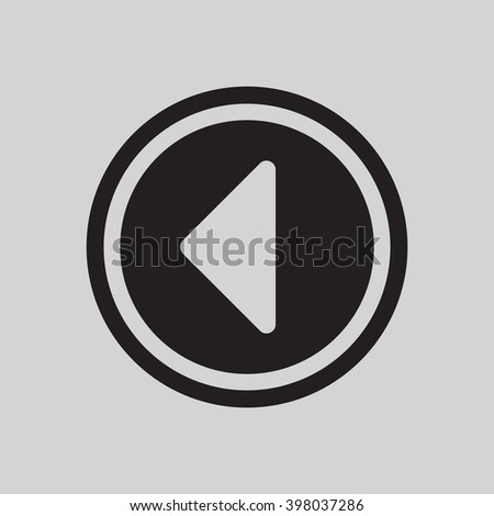 Play  icon, vector illustration. Flat design style #398037286