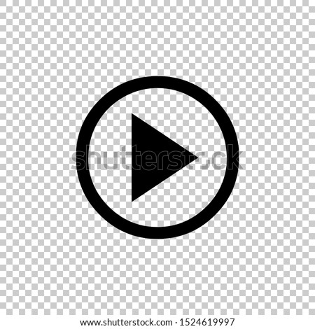 play icon vector isolated on transparent background