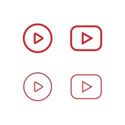 Play icon, video media player interface.