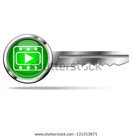 Play icon with key