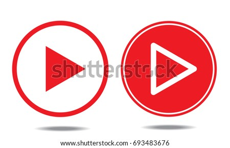 Play icons. Vector buttons #693483676