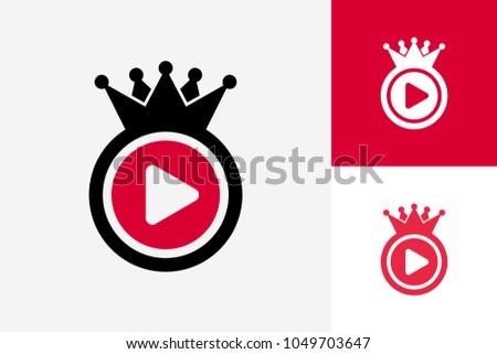 play king logo template design