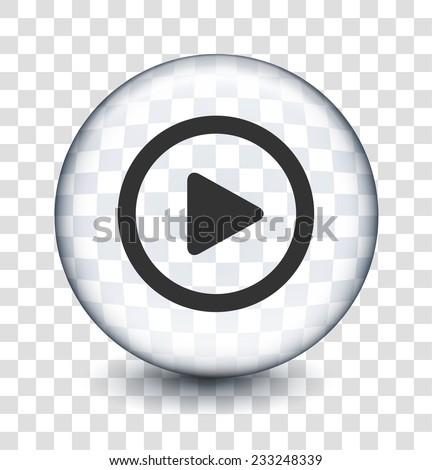 Play on Transparent Round Button