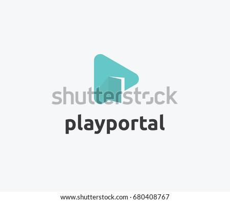 play portal logo template design