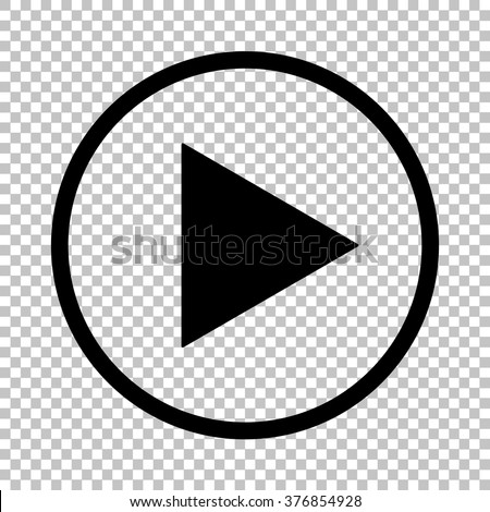 Shutterstock Play sign. Flat style icon on transparent background