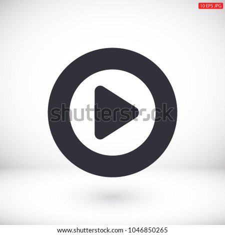 Play  vector icon #1046850265
