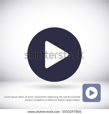 Play Vector icon #1050297806
