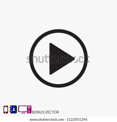 Play  vector icon #1122051296