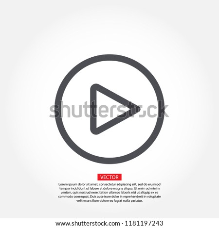 Play Vector icon #1181197243