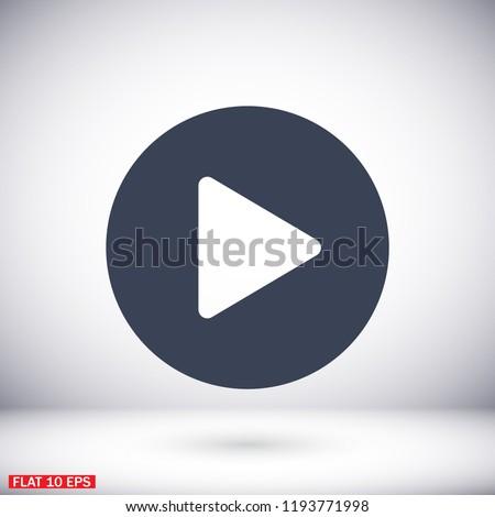 Play Vector icon #1193771998