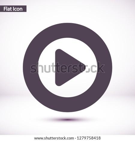 Play  vector icon #1279758418
