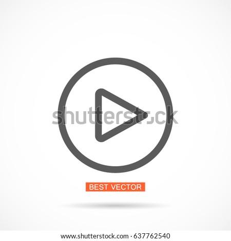 Play Vector icon #637762540
