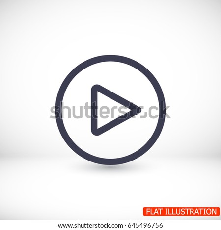 Play Vector icon #645496756