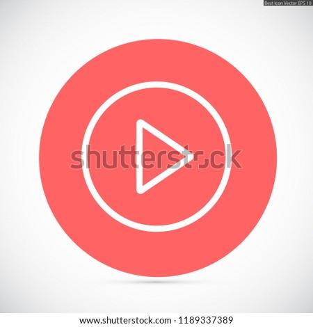 play vector icon 10 eps #1189337389
