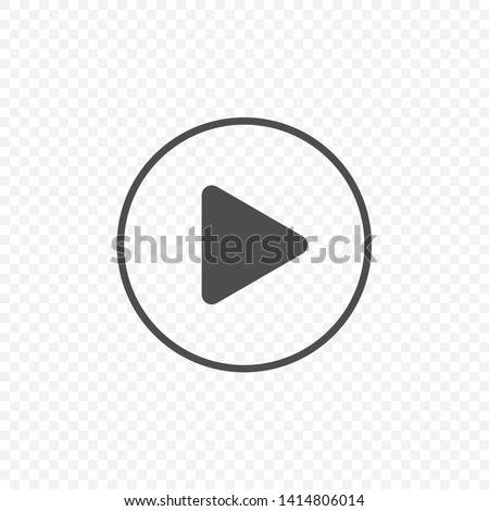 Play vector icon. Media player sign, Vector illustration