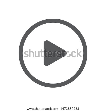 Play vector icon. Media player symbol. Video and audio multimedia reproduction.