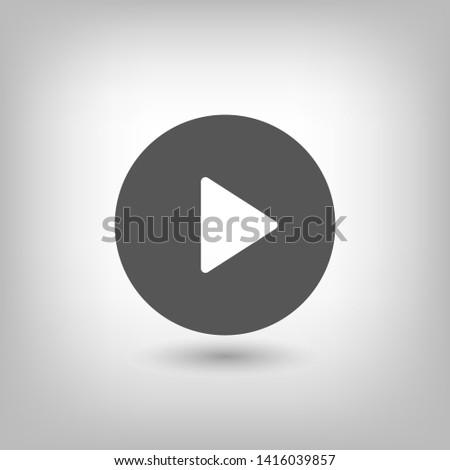 Play vector icon. Symbol button Play video. Media play icon. Audio play button. Web design icon. EPS 10
