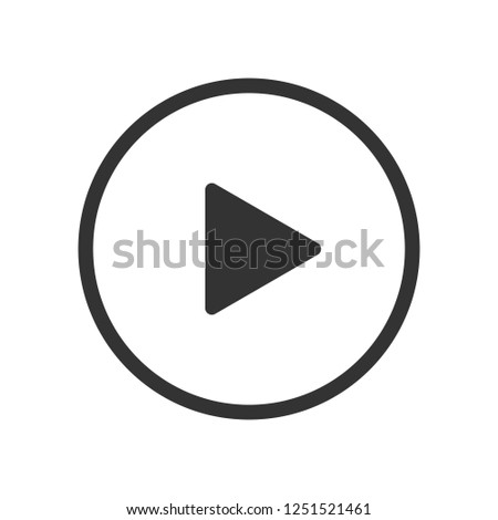Play Video button vector icon on white background