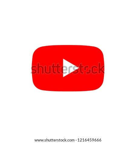 play video icon button, youtube symbol banner, flat icon vector, social media sign, mobile app, web video mark vector