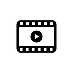 Play video icon vector. Movie icon vector illustration