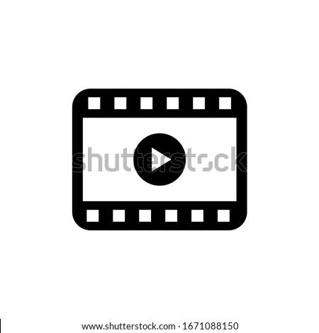 Play video icon vector. Movie icon vector illustration Сток-фото ©