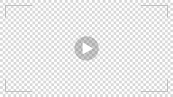Play video sign vector on transparent background with opasity play button.