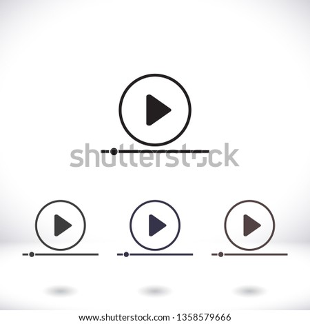 Play Video vector icon