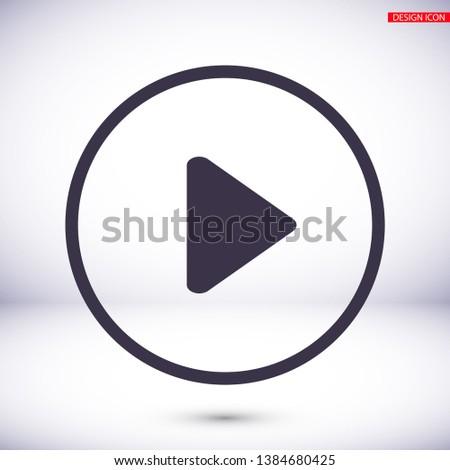 Play Video vector icon. lorem ipsum Flat Design JPG #1384680425
