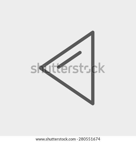 playback button icon thin line