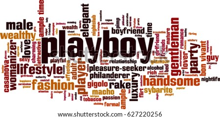playboy word cloud concept
