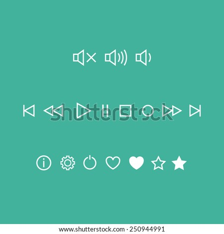 Player Linear Vector Icons
