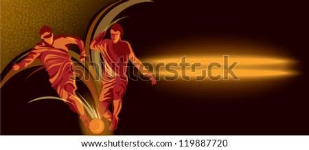 players kicks the ball